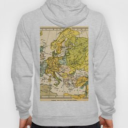 Europe in 1135 - Vintage Map Collection Hoody