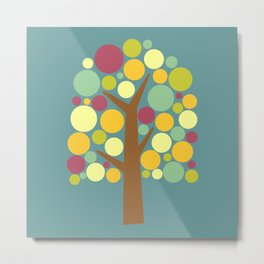Modern Pop Art Tree Metal Print