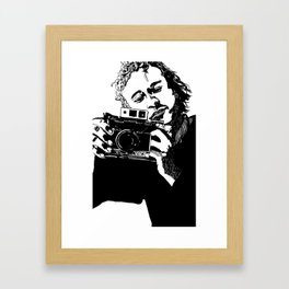 Heaf wiv cam Framed Art Print