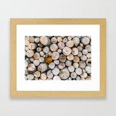 Logged Framed Art Print