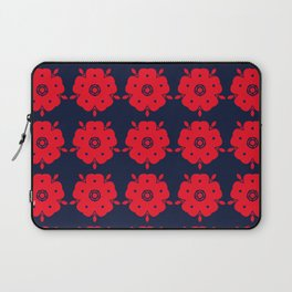 Japanese Samurai flower red pattern Laptop Sleeve