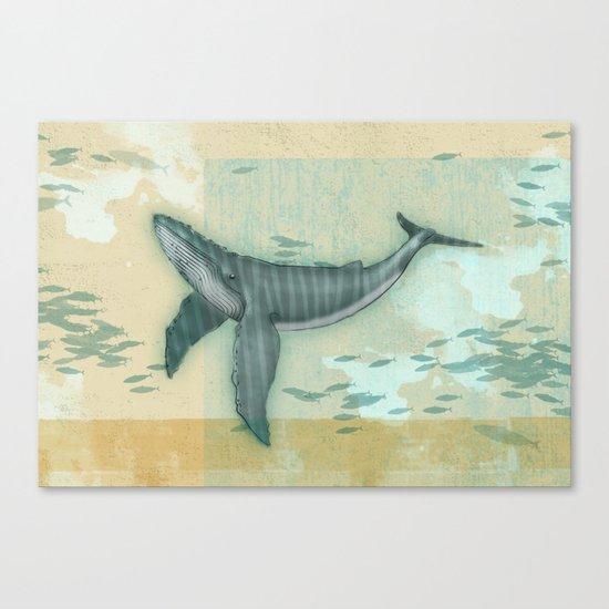 rhythm of the whale Canvas Print