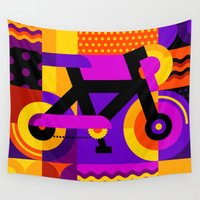 bicycle Wall Tapestries featuring Bicycle by koivo