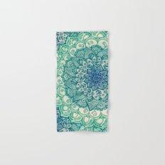 Emerald Doodle Hand & Bath Towel