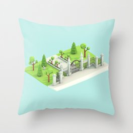 Low Poly Trinity Bellwoods Throw Pillow