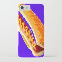 hot dog iPhone & iPod Cases featuring Hot Dog by Del Vecchio Art by Aureo Del Vecchio