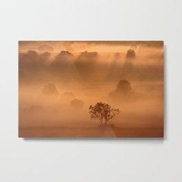 """Dawn"" whispered the mist Metal Print"