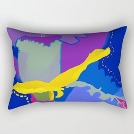 Crazy  Blue Daffodil Rectangular Pillow