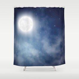 Night sky moon Shower Curtain