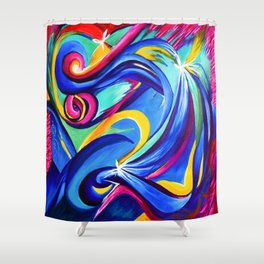 Reiki Abstract Shower Curtain