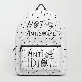 NOT Anti-Social Anti-Idiot Backpack