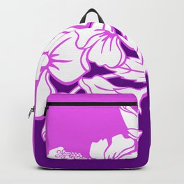 Hibiscus Purple Backpack