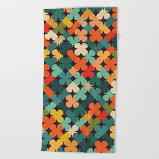 Lucky Clover Beach Towel