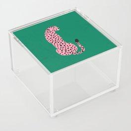 The Stare: Pink Cheetah Edition Acrylic Box