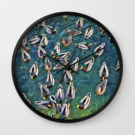 Duck Swarm Wall Clock