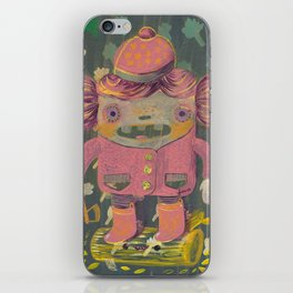 lumberjack girl portrait (sister nature's evil twin) iPhone Skin
