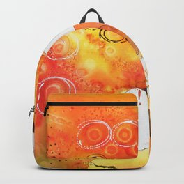 Orange Map Abstract Backpack
