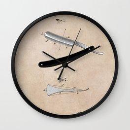 patent Razor Wall Clock