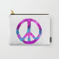 Purple Blue Watercolor Peace Sign Carry-All Pouch