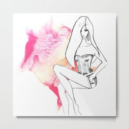 cute lingerie Metal Print