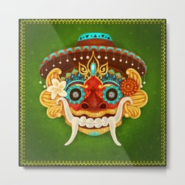Day of the Dead Barong Metal Print