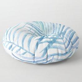 Coastal Palms Watercolor Floor Pillow