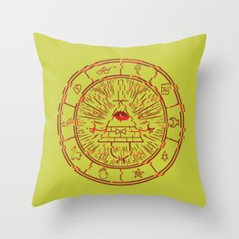 Gravity Falls Bill Cipher Wheel- disorderd Throw Pillow