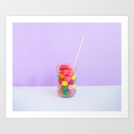 Delicious Sweet Birthday Candy Art Print
