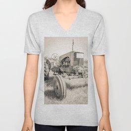 Vintage Tractor Durham NH Unisex V-Neck