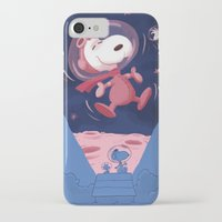 snoopy iPhone & iPod Cases featuring Snoopy on the moon by Enrique Guillamon