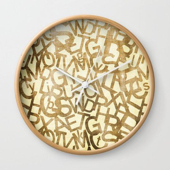 Din pattern Wall Clock