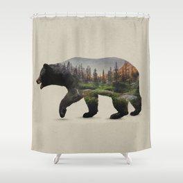 The North American Black Bear Shower Curtain