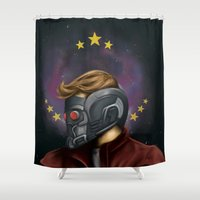 star lord Shower Curtains featuring My little Star-Lord by toibi