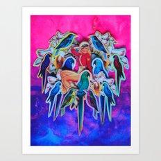 Parrot Party Art Print