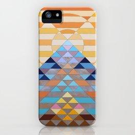 large sun mountain orange iPhone Case