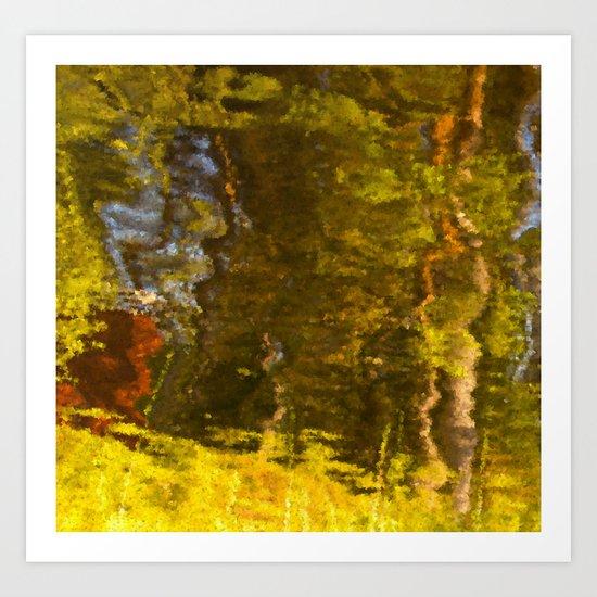 Abstract reflection I Art Print