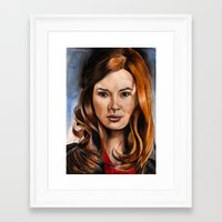 amy pond Framed Art Prints featuring Amy Pond by Hannah D