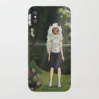 princess mononoke iPhone & iPod Cases featuring Princess Mononoke by ketizoloto