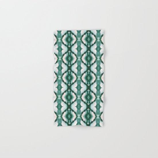 Watercolor Green Tile 1 Hand & Bath Towel