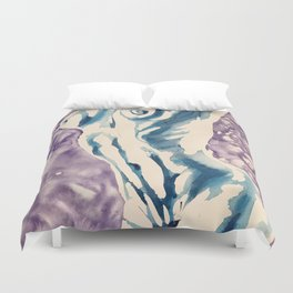 Stretching Nude Duvet Cover