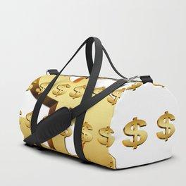 dollar money gold finance Duffle Bag