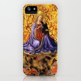 """Fra Angelico (Guido di Pietro) """"Madonna of Humility with Angels"""" iPhone Case"""