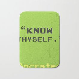 Know thyself. Socrates quote Bath Mat