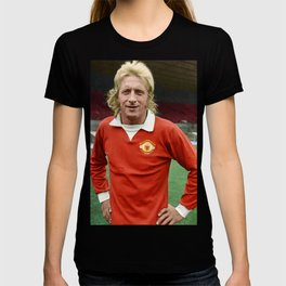 Denis Law in colour T-shirt