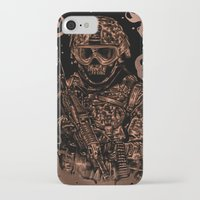 military iPhone & iPod Cases featuring Military skull by barmalisiRTB