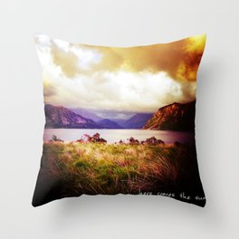 ...Here Come the Sun Throw Pillow
