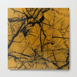 Dusty Golden Marble Metal Print