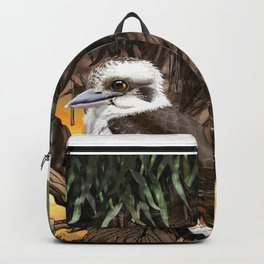 Kookaburra Sits on the Old Gum Tree Backpack