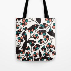 Tangled spring branches and flowers Tote Bag