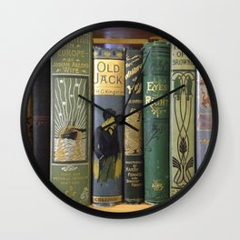 Decorated Spines I Wall Clock